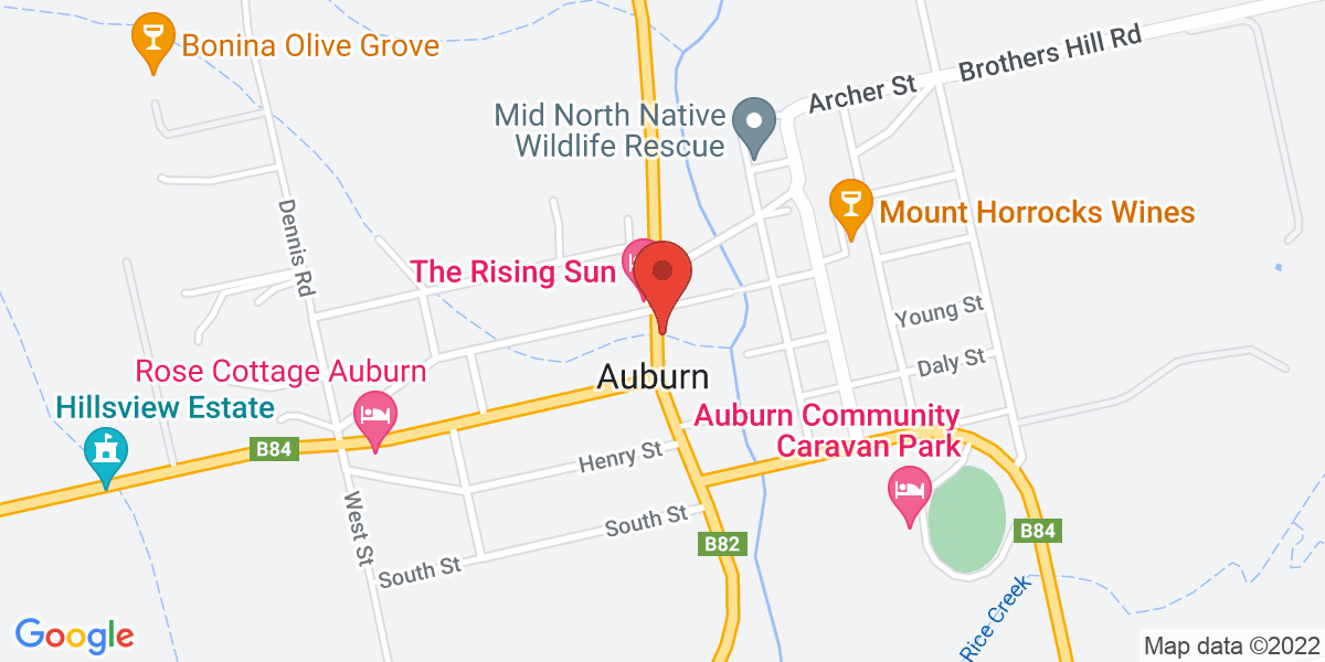 <div class='vcard'><div class='fn'>Wines by KT</div>                         <div class='adr' >                             <div class='street-address'>20 Main North Rd</div>                             <div class='extended-address'></div>                             <div>                                 <span class='locality'>Auburn</span>,                                 <span class='region'>South Australia</span>                                 <span class='postal-code'>5451</span>                             </div>                                                      </div></div>
