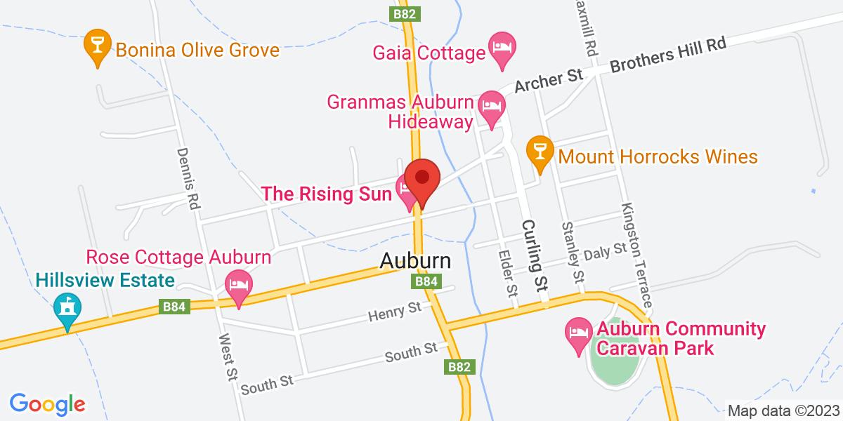 <div class='adr' >                             <div class='street-address'>24 Main North Road</div>                             <div class='extended-address'></div>                             <div>                                 <span class='locality'>Auburn</span>,                                 <span class='region'>South Australia</span>                                 <span class='postal-code'>5451</span>                             </div>                                                      </div>