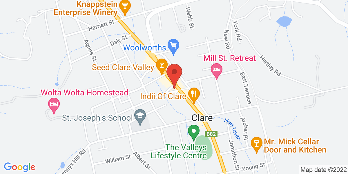 <div class='vcard'><div class='fn'>Peekaboo Kidz</div>                         <div class='adr' >                             <div class='street-address'>240 Main North Rd</div>                             <div class='extended-address'></div>                             <div>                                 <span class='locality'>Clare</span>,                                 <span class='region'>South Australia</span>                                 <span class='postal-code'>5453</span>                             </div>                                                      </div></div>