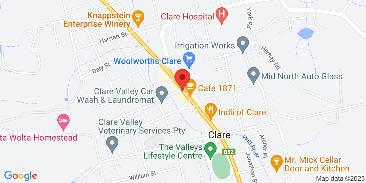 <div class='vcard'><div class='fn'>Zest Cafe Clare</div>                         <div class='adr' >                             <div class='street-address'>260 Main North Road</div>                             <div class='extended-address'>Shop 4</div>                             <div>                                 <span class='locality'>Clare</span>,                                 <span class='region'>South Australia</span>                                 <span class='postal-code'>5453</span>                             </div>                                                      </div></div>