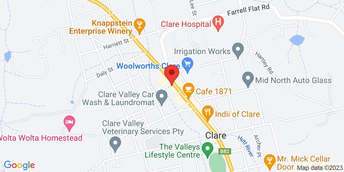 <div class='vcard'><div class='fn'>Wild Saffron</div>                         <div class='adr' >                             <div class='street-address'>288 Main North Rd</div>                             <div class='extended-address'>Clare</div>                             <div>                                 <span class='locality'>Clare</span>,                                 <span class='region'>South Australia</span>                                 <span class='postal-code'>5453</span>                             </div>                                                      </div></div>