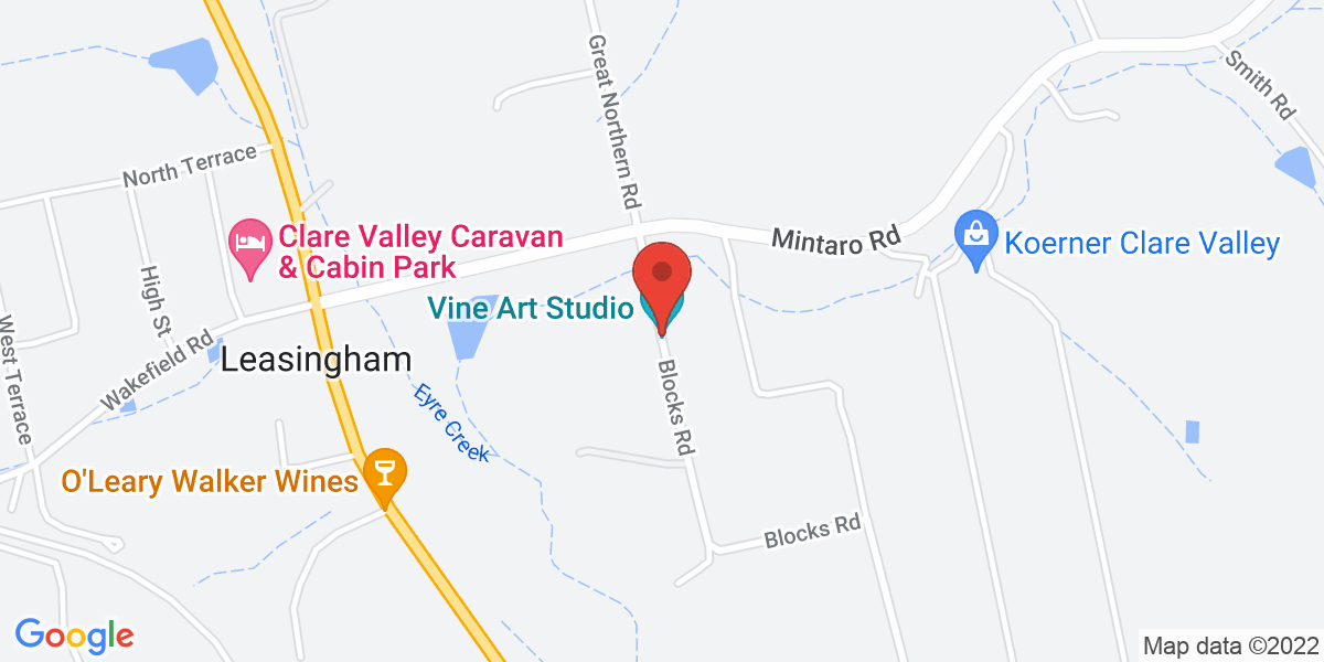 <div class='vcard'><div class='fn'>Bed in a Shed Too Unique Vineyard Accommodation</div>                         <div class='adr' >                             <div class='street-address'>289 Blocks Road</div>                             <div class='extended-address'></div>                             <div>                                 <span class='locality'>Leasingham</span>,                                 <span class='region'>South Australia</span>                                 <span class='postal-code'>5452</span>                             </div>                                                      </div></div>