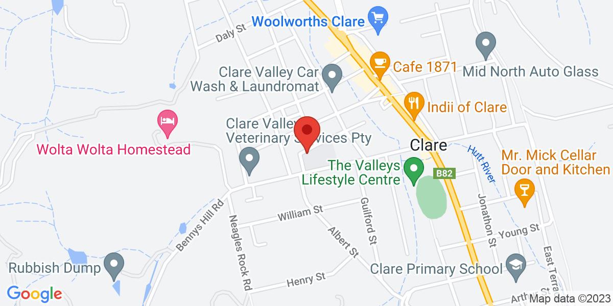 <div class='vcard'><div class='fn'>St Joseph's School, Clare</div>                         <div class='adr' >                             <div class='street-address'>29 Victoria Rd</div>                             <div class='extended-address'></div>                             <div>                                 <span class='locality'>Clare</span>,                                 <span class='region'>SA</span>                                 <span class='postal-code'>5453</span>                             </div>                                                      </div></div>