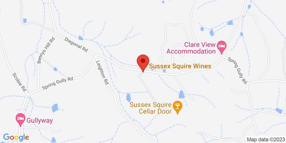 <div class='vcard'><div class='fn'>Sussex Squire Wines</div>                         <div class='adr' >                             <div class='street-address'>293 Spring Gully Road</div>                             <div class='extended-address'></div>                             <div>                                 <span class='locality'>Gillentown</span>,                                 <span class='region'>South Australia</span>                                 <span class='postal-code'>5453</span>                             </div>                                                      </div></div>