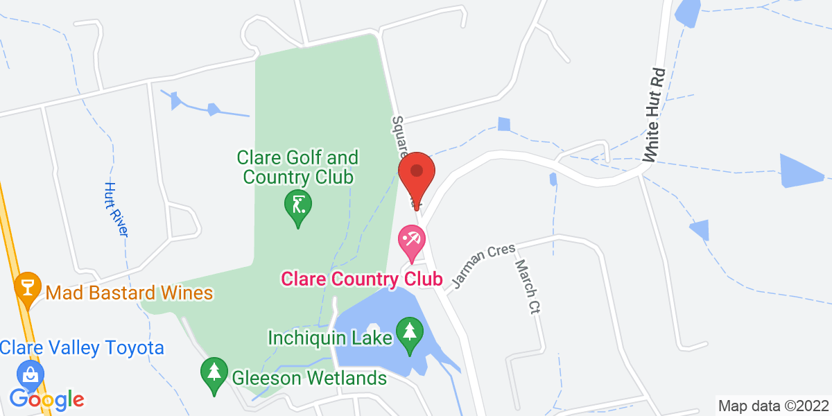 <div class='vcard'><div class='fn'>Clare Golf Club</div>                         <div class='adr' >                             <div class='street-address'>3 Square Mile Road</div>                             <div class='extended-address'></div>                             <div>                                 <span class='locality'>Clare</span>,                                 <span class='region'>South Australia</span>                                 <span class='postal-code'>5453</span>                             </div>                                                      </div></div>