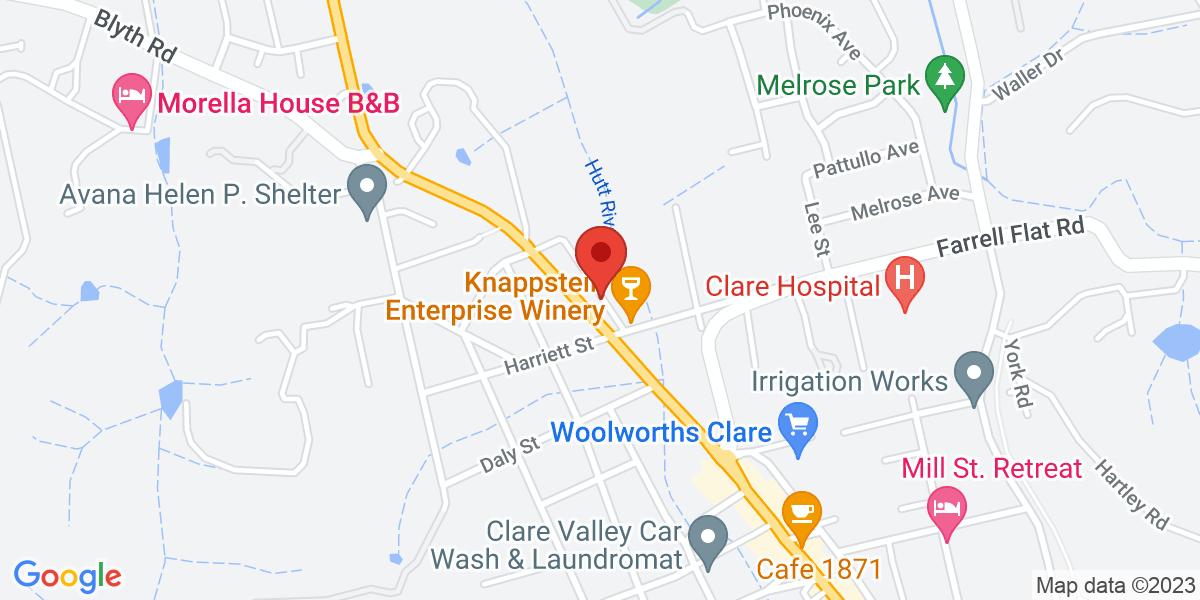 <div class='vcard'><div class='fn'>Clare Central Motel</div>                         <div class='adr' >                             <div class='street-address'>325 Main North Rd</div>                             <div class='extended-address'></div>                             <div>                                 <span class='locality'>Clare</span>,                                 <span class='region'>South Australia</span>                                 <span class='postal-code'>5453</span>                             </div>                                                      </div></div>