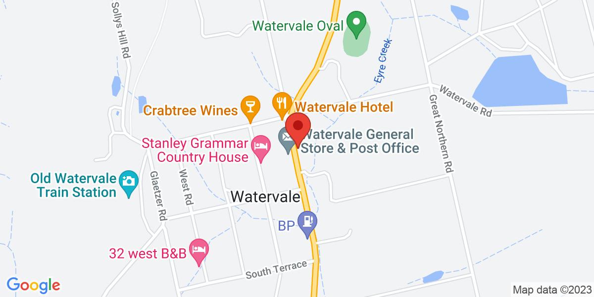 <div class='adr' >                             <div class='street-address'>34 Main North Road</div>                             <div class='extended-address'></div>                             <div>                                 <span class='locality'>Watervale</span>,                                 <span class='region'>South Australia</span>                                 <span class='postal-code'>5452</span>                             </div>                                                      </div>
