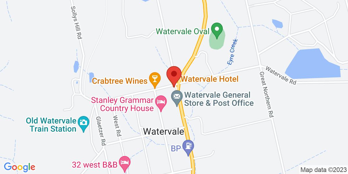 <div class='vcard'><div class='fn'>Watervale Hotel - Degustation Dining</div>                         <div class='adr' >                             <div class='street-address'>37 Main North Road</div>                             <div class='extended-address'></div>                             <div>                                 <span class='locality'>Watervale</span>,                                 <span class='region'>South Australia</span>                                 <span class='postal-code'>5452</span>                             </div>                                                      </div></div>
