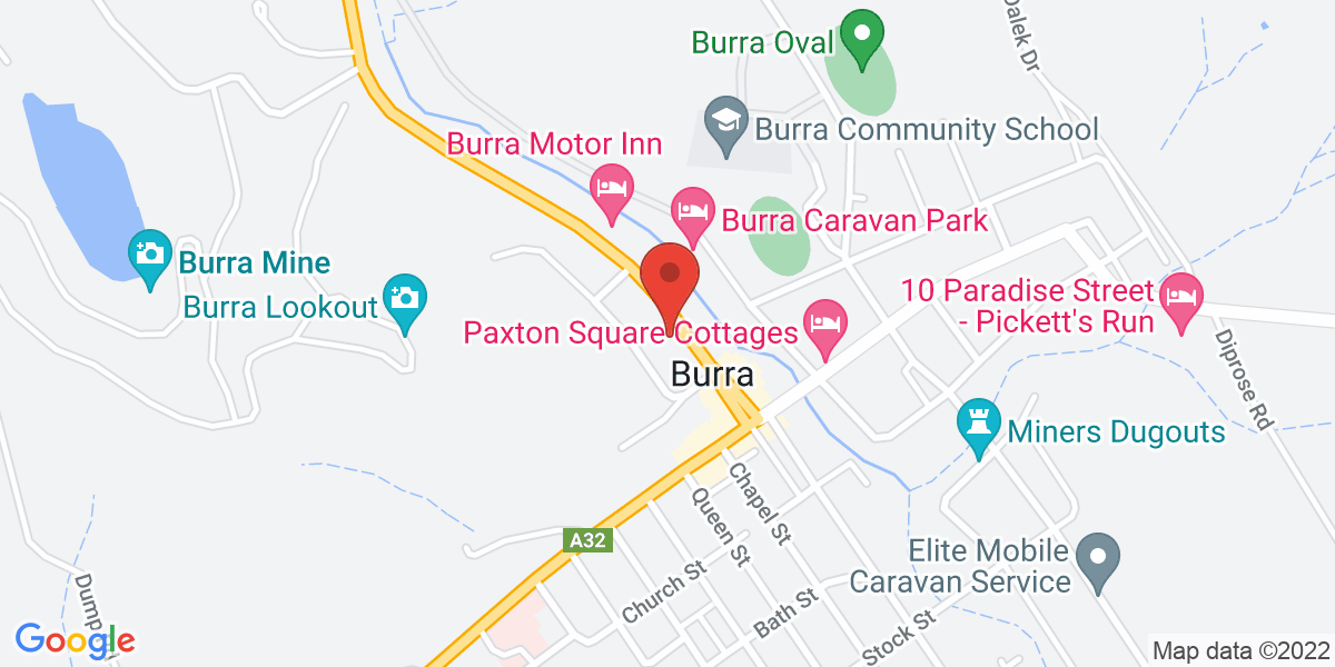 <div class='adr' >                             <div class='street-address'>4 Market Street</div>                             <div class='extended-address'></div>                             <div>                                 <span class='locality'>Burra</span>,                                 <span class='region'>South Australia</span>                                 <span class='postal-code'>5417</span>                             </div>                                                      </div>
