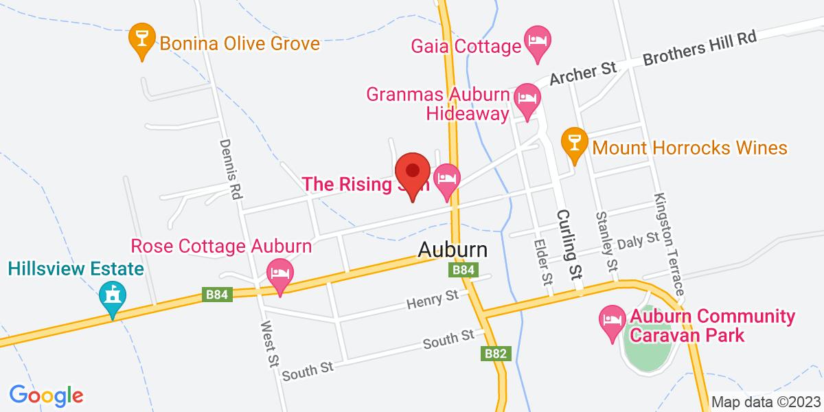 <div class='adr' >                             <div class='street-address'>4 St Vincent Street</div>                             <div class='extended-address'></div>                             <div>                                 <span class='locality'>Auburn</span>,                                 <span class='region'>South Australia</span>                                 <span class='postal-code'>5451</span>                             </div>                                                      </div>