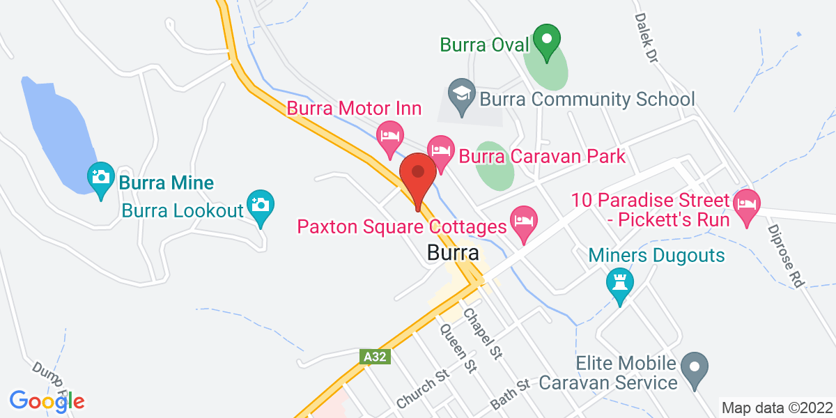 <div class='adr' >                             <div class='street-address'>6 Market Street</div>                             <div class='extended-address'></div>                             <div>                                 <span class='locality'>Burra</span>,                                 <span class='region'>South Australia</span>                                 <span class='postal-code'>5417</span>                             </div>                                                      </div>