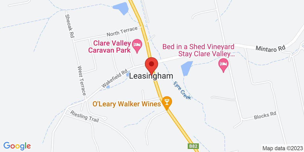 <div class='vcard'><div class='fn'>Ethel's Cottage</div>                         <div class='adr' >                             <div class='street-address'>7119 Horrocks Highway</div>                             <div class='extended-address'></div>                             <div>                                 <span class='locality'>Leasingham</span>,                                 <span class='region'>South Australia</span>                                 <span class='postal-code'>5452</span>                             </div>                                                      </div></div>