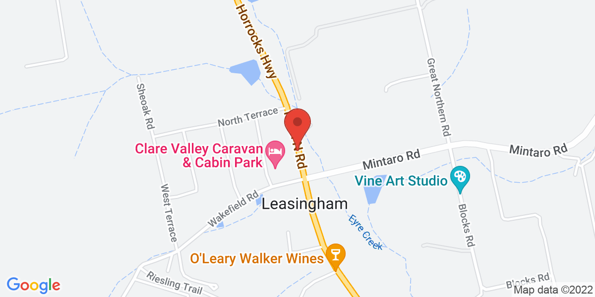 <div class='vcard'><div class='fn'>Claymore Wines</div>                         <div class='adr' >                             <div class='street-address'>7145 Horrocks Highway</div>                             <div class='extended-address'></div>                             <div>                                 <span class='locality'>Leasingham</span>,                                 <span class='region'>South Australia</span>                                 <span class='postal-code'>5452</span>                             </div>                                                      </div></div>