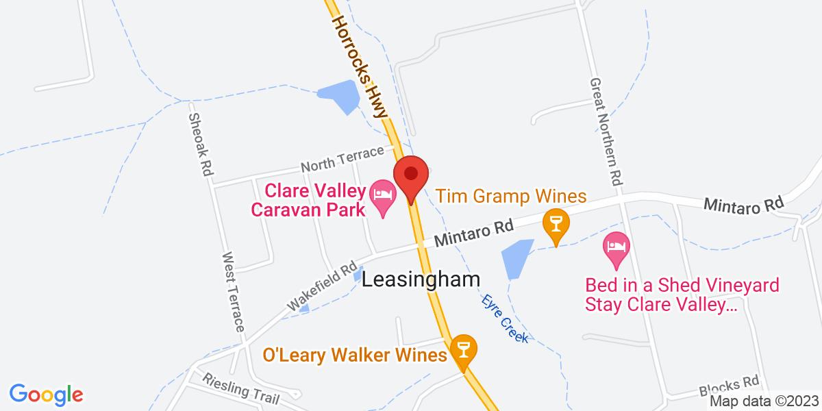 <div class='adr' >                             <div class='street-address'>7145 Horrocks Hwy</div>                             <div class='extended-address'></div>                             <div>                                 <span class='locality'>Leasingham</span>,                                 <span class='region'>South Australia</span>                                 <span class='postal-code'>5452</span>                             </div>                                                      </div>