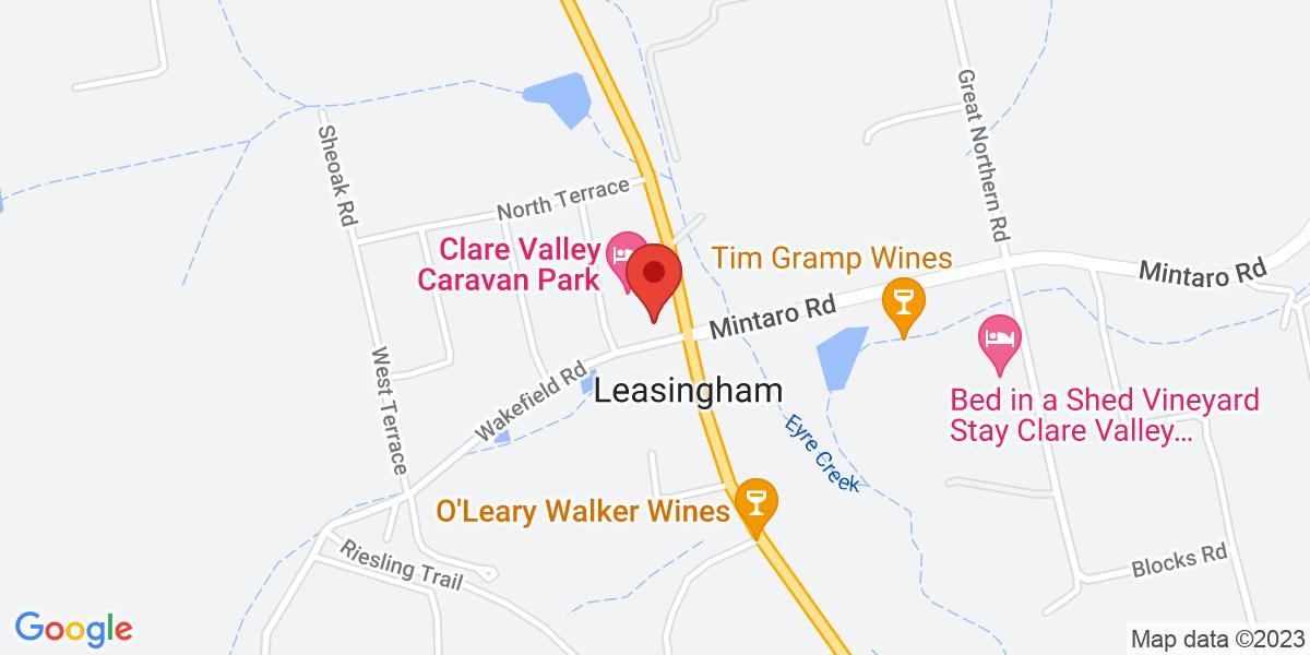 <div class='vcard'><div class='fn'>Leasingham Village Cabins</div>                         <div class='adr' >                             <div class='street-address'>8 Wakefield Road</div>                             <div class='extended-address'></div>                             <div>                                 <span class='locality'>Leasingham</span>,                                 <span class='region'>South Australia</span>                                 <span class='postal-code'>5452</span>                             </div>                                                      </div></div>