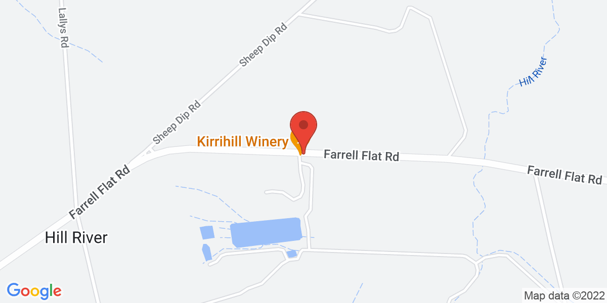 <div class='vcard'><div class='fn'>Kirrihill Wines</div>                         <div class='adr' >                             <div class='street-address'>948 Farrell Flat Road</div>                             <div class='extended-address'></div>                             <div>                                 <span class='locality'>Clare</span>,                                 <span class='region'>South Australia</span>                                 <span class='postal-code'>5453</span>                             </div>                                                      </div></div>