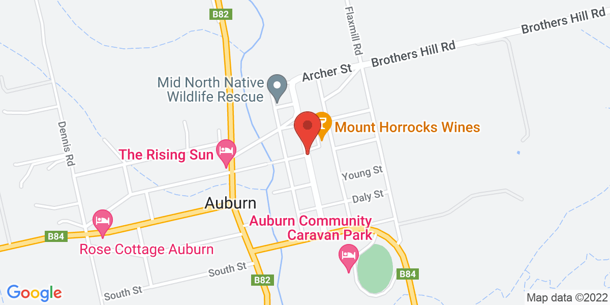 <div class='adr' >                             <div class='street-address'>Church Street</div>                             <div class='extended-address'></div>                             <div>                                 <span class='locality'>Auburn</span>,                                 <span class='region'>South Australia</span>                                 <span class='postal-code'>5451</span>                             </div>                                                      </div>