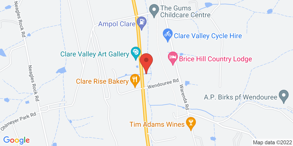 <div class='vcard'><div class='fn'>Clare Valley Bowen Therapy</div>                         <div class='adr' >                             <div class='street-address'>Lot 3 Main North Road</div>                             <div class='extended-address'></div>                             <div>                                 <span class='locality'>Clare</span>,                                 <span class='region'>South Australia</span>                                 <span class='postal-code'>5453</span>                             </div>                                                      </div></div>