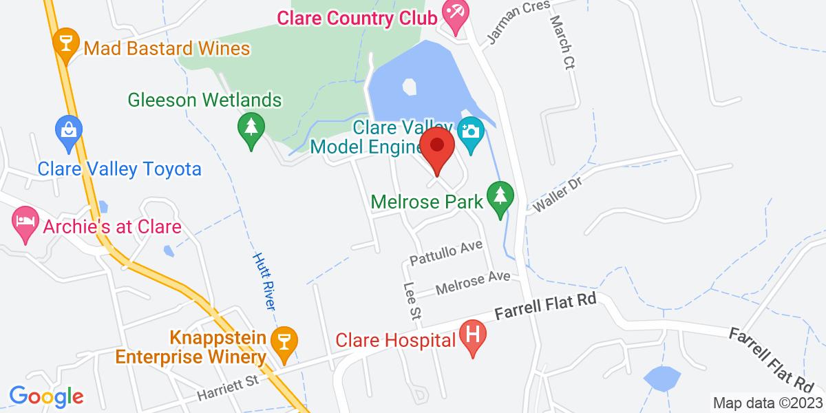 <div class='vcard'><div class='fn'>Melrose Park </div>                         <div class='adr' >                             <div class='street-address'>Phoenix Avenue </div>                             <div class='extended-address'></div>                             <div>                                 <span class='locality'>Clare </span>,                                 <span class='region'>SA</span>                                 <span class='postal-code'>5453</span>                             </div>                                                      </div></div>
