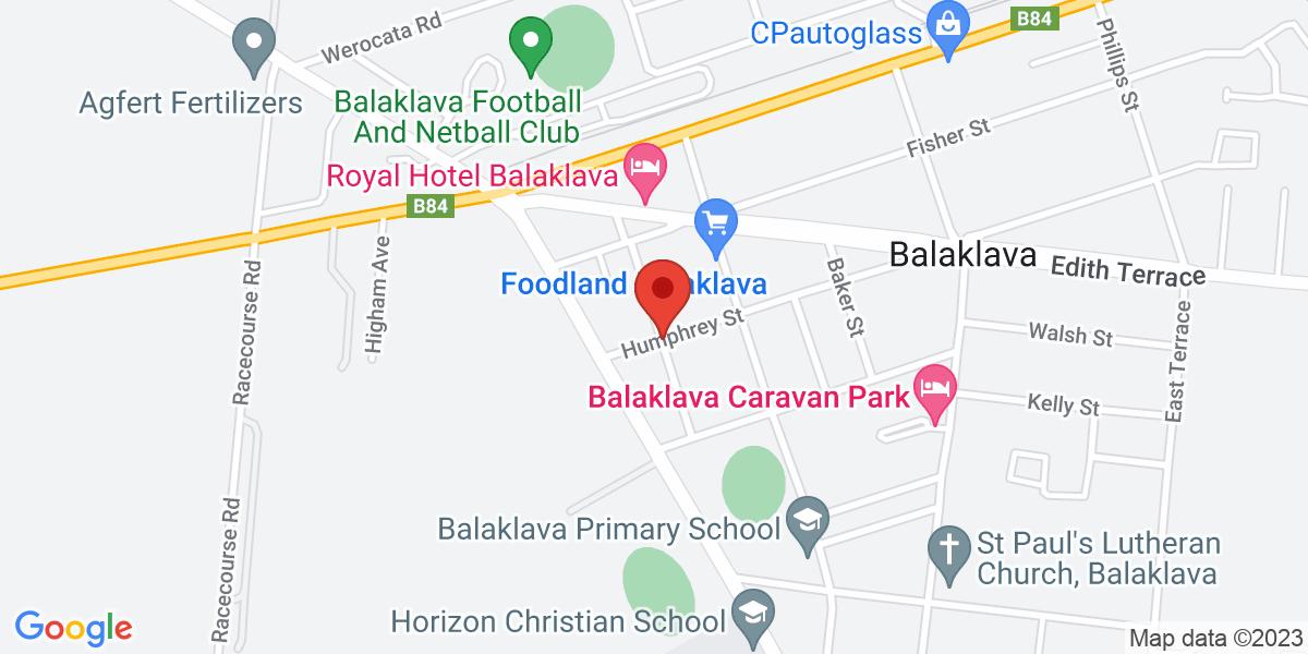 <div class='vcard'><div class='fn'>Shamus Liptrot Cycling Trail</div>                         <div class='adr' >                             <div class='street-address'>Scotland Pl</div>                             <div class='extended-address'></div>                             <div>                                 <span class='locality'>Balaklava</span>,                                 <span class='region'>South Australia</span>                                 <span class='postal-code'>5461</span>                             </div>                                                      </div></div>
