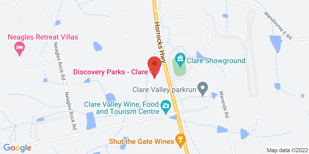<div class='adr' >                             <div class='street-address'>Stradbroke Road and Horrocks Highway</div>                             <div class='extended-address'></div>                             <div>                                 <span class='locality'>Clare</span>,                                 <span class='region'>South Australia</span>                                 <span class='postal-code'>5453</span>                             </div>                                                      </div>