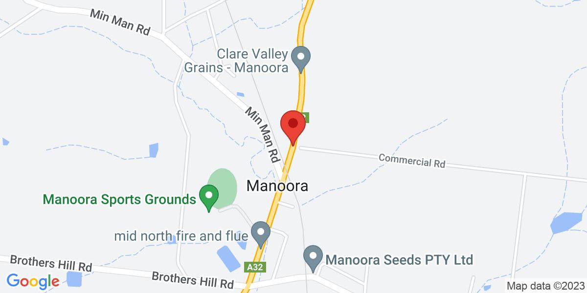 <div class='adr' >                             <div class='street-address'>Weymouth Street/Barrier Highway</div>                             <div class='extended-address'></div>                             <div>                                 <span class='locality'>Manoora</span>,                                 <span class='region'>South Australia</span>                                 <span class='postal-code'>5414</span>                             </div>                                                      </div>