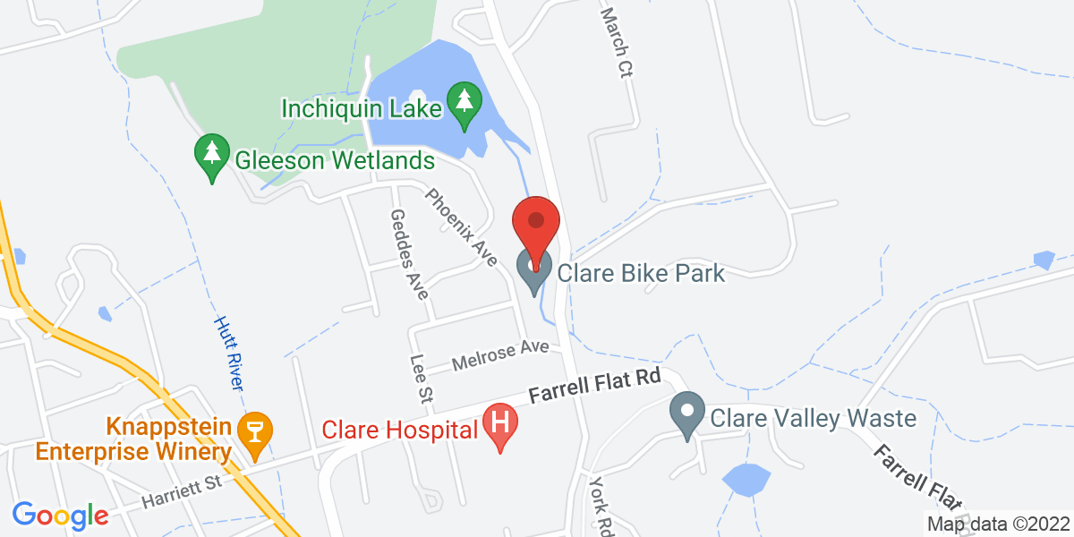 <div class='vcard'><div class='fn'>Clare Valley Model Engineers</div>                         <div class='adr' >                             <div class='street-address'>off Phoenix Ave</div>                             <div class='extended-address'>Melrose Park</div>                             <div>                                 <span class='locality'>Clare</span>,                                 <span class='region'>South Australia</span>                                 <span class='postal-code'>5453</span>                             </div>                                                      </div></div>