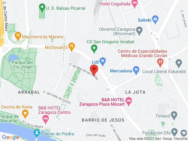 Calle Más de las Matas, 20 50014  Spain - Map view