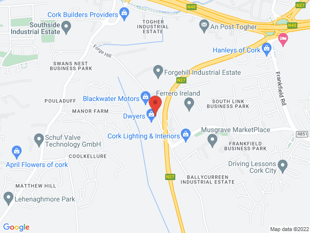 Blackwater Motors Cork (Main Volkswagen Dealer) location
