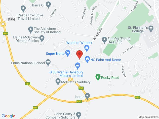 Cahercalla Motors (Mazda Main Dealer) location