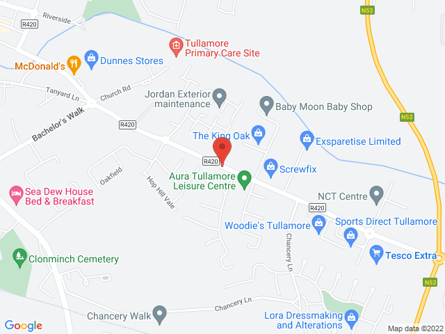 Tullamore Motors Renault & Dacia location