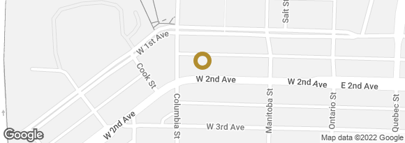 Map of Oakwyn Realty Ltd. - Branch, 179 W 2nd Avenue Vancouver, British Columbia, V5Y 1B8