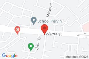 اجاره منزل مبله روزانه هفتگی اصفهان - موقعیت در نقشه