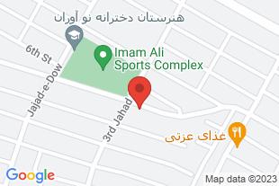 فروش خانه2طبقه درکرمانشاه شهرک جهاد - موقعیت در نقشه
