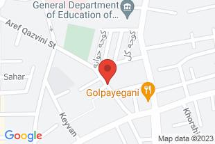 املاک مهرداد همدان - موقعیت در نقشه
