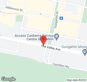 Map of 120 The Valley Avenue, Gungahlin, ACT