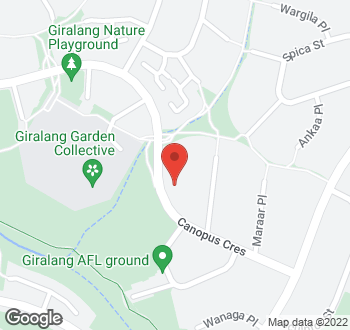 Map of 89 Canopus Crescent, Giralang, ACT