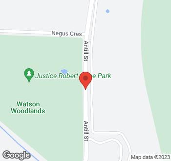 Map of Antill Street, Watson, ACT