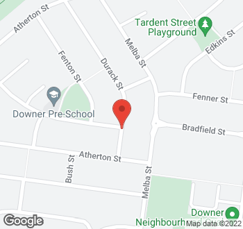Map of 4 Durack Street, Downer, ACT