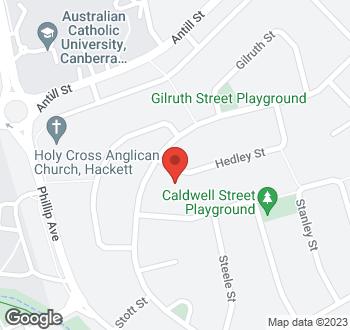 Map of 31 Hedley Street, Hackett, ACT