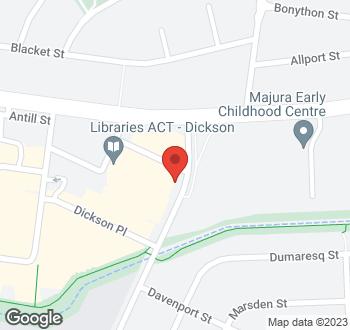 Map of 133 Cowper Street, Dickson, ACT