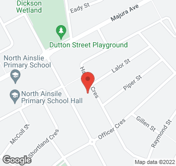 Map of 35 Hannan Crescent, Ainslie, ACT