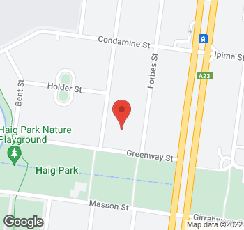 Map of 38 Macleay Street, Turner, ACT
