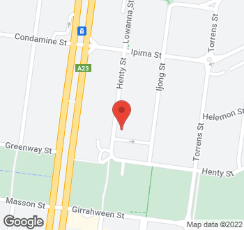 Map of 68 Henty Street, Braddon, ACT