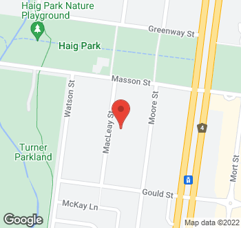 Map of 12 Macleay Street, Turner, ACT