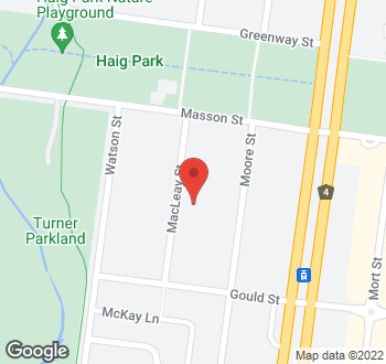 Map of 10 Macleay Street, Turner, ACT