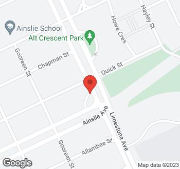Map of 39 Limestone Avenue, Braddon, ACT
