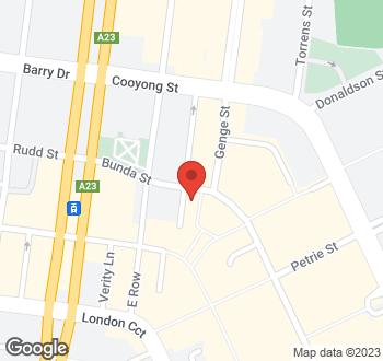 Map of 50 Bunda Street, City, ACT