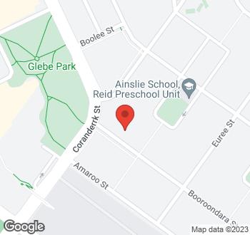 Map of 52 Booroondara Street, Reid, ACT