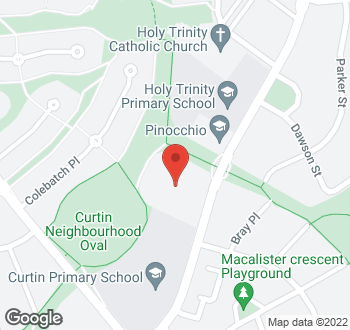 Map of 38 Theodore Street, Curtin, ACT